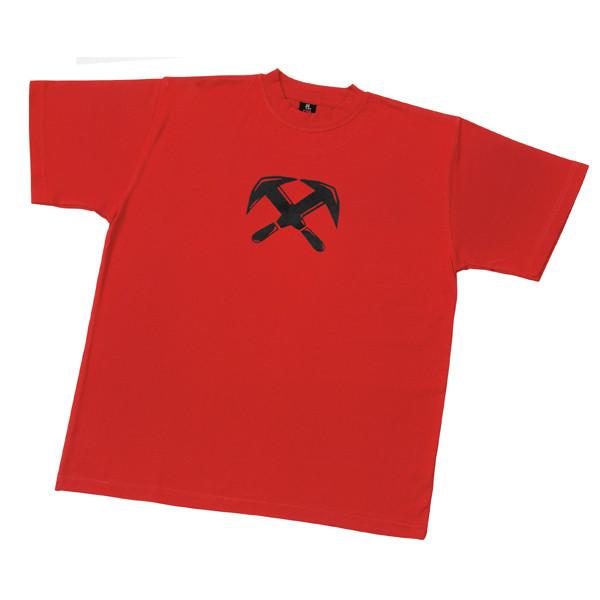 TILL T-Shirt Zunftzeichen Dachdecker, rot