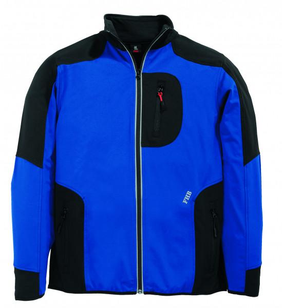 RALF Jersey-Fleece-Jacke FHB Fastdry, royalblau-schwarz