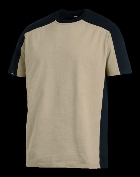 MARC T-Shirt, beige/schwarz