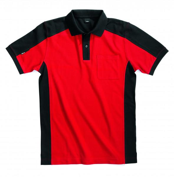 KONRAD Polo-Shirt, rot-schwarz
