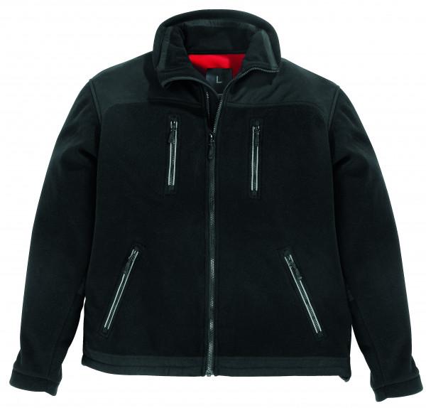 LOTHAR Micro-Double-Fleece-Jacke mit Membran, schwarz