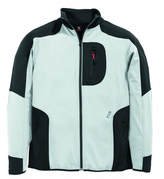 RALF Jersey-Fleece-Jacke FHB Fastdry, weiß-anthrazit