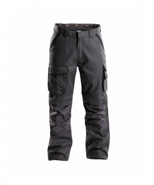 CONNOR Canvas Bundhose mit Kniepolstertaschen, grau/schwarz