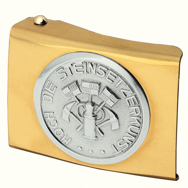EINHARDT Koppelschloss Steinsetzer, gold