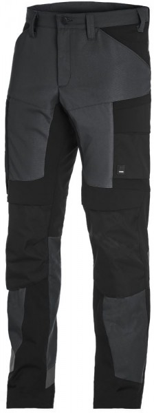 LEO Arbeitshose elastisch, anthrazit-schwarz