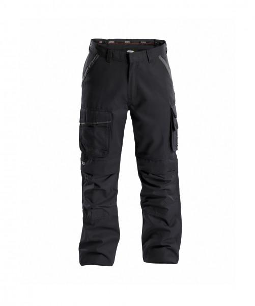 CONNOR Canvas Bundhose mit Kniepolstertaschen, schwarz/grau