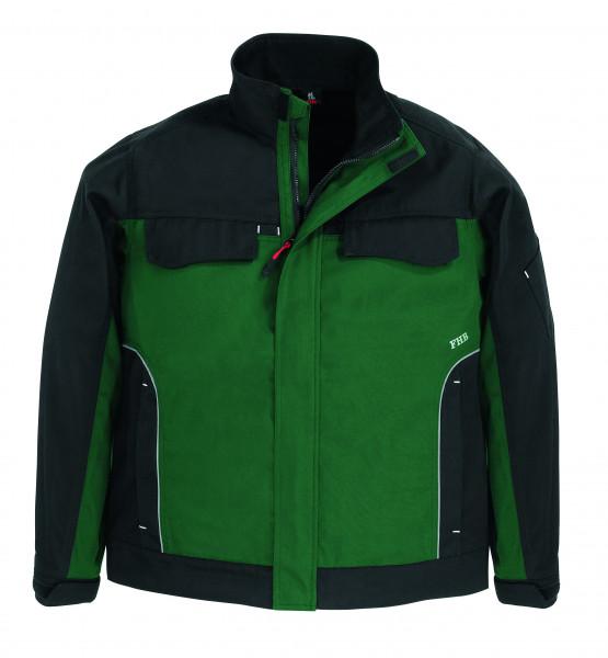 ERNST Arbeitsjacke Twill, grün-schwarz