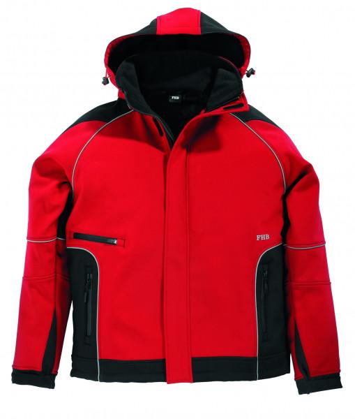 WALTER Softshell-Jacke, rot-schwarz