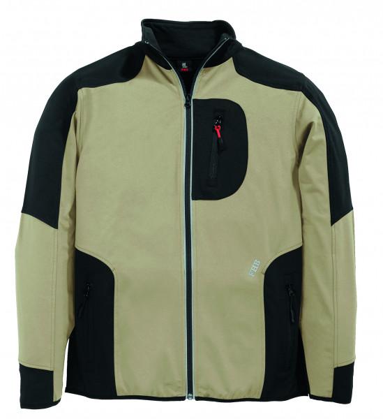 RALF Jersey-Fleece-Jacke FHB Fastdry, beige-schwarz