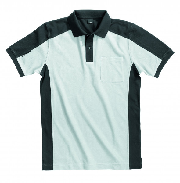 KONRAD Polo-Shirt, weiß-anthrazit