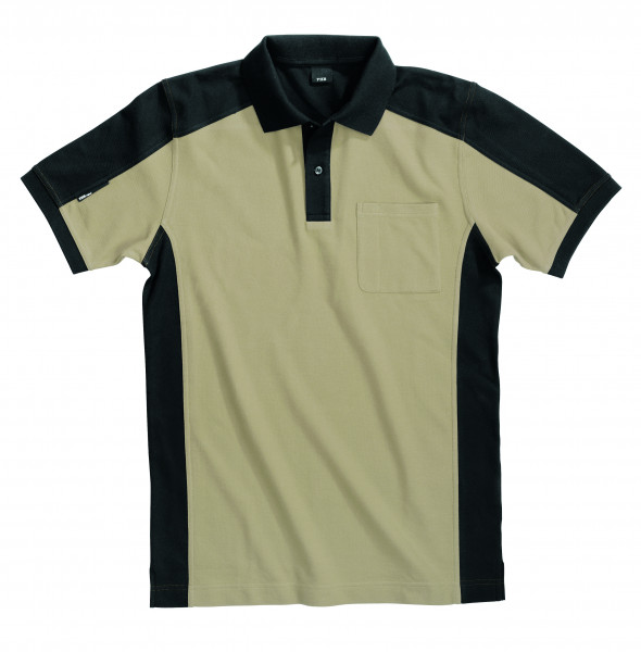 KONRAD Polo-Shirt, beige-schwarz