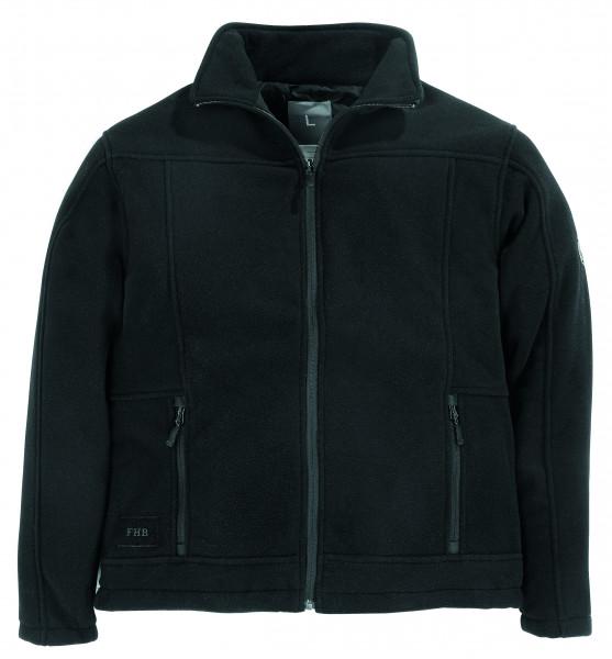 ROMAN Fleece-Jacke, schwarz
