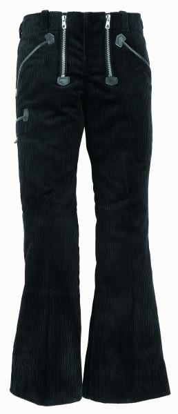 LUISE Zunfthose Trenkercord, 58 cm Schlag, schwarz
