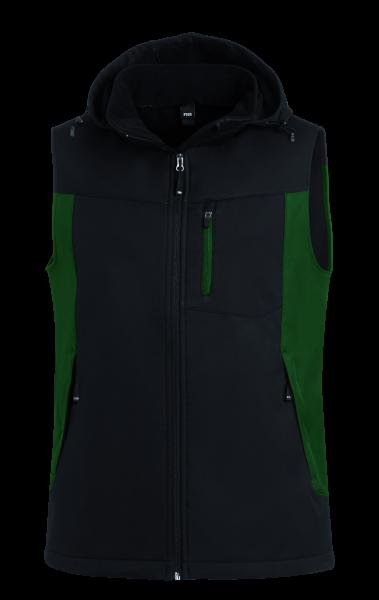 JUSTUS Softshellweste, grün-schwarz