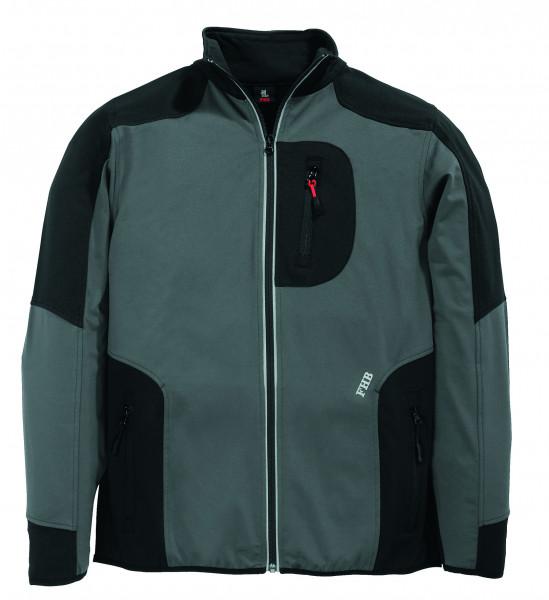 RALF Jersey-Fleece-Jacke FHB Fastdry, grau-schwarz