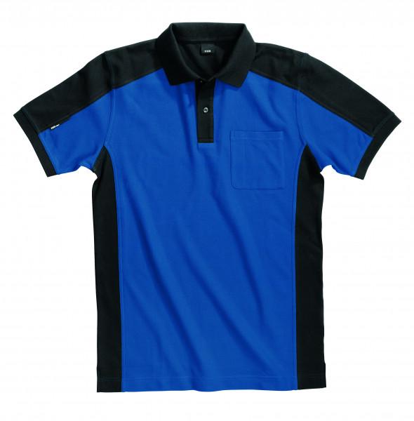 KONRAD Polo-Shirt, royalblau-schwarz