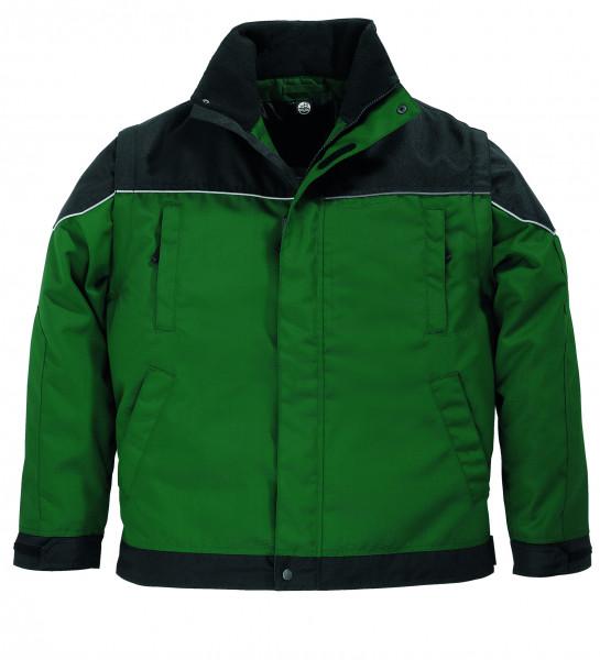 TOM Arbeitsjacke 2 in 1, grün-schwarz