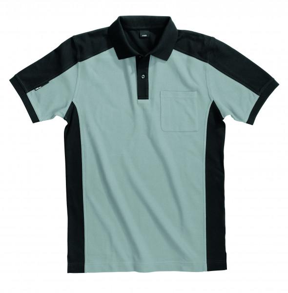 KONRAD Polo-Shirt, grau-schwarz