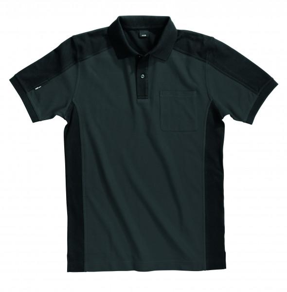 KONRAD Polo-Shirt, anthrazit-schwarz