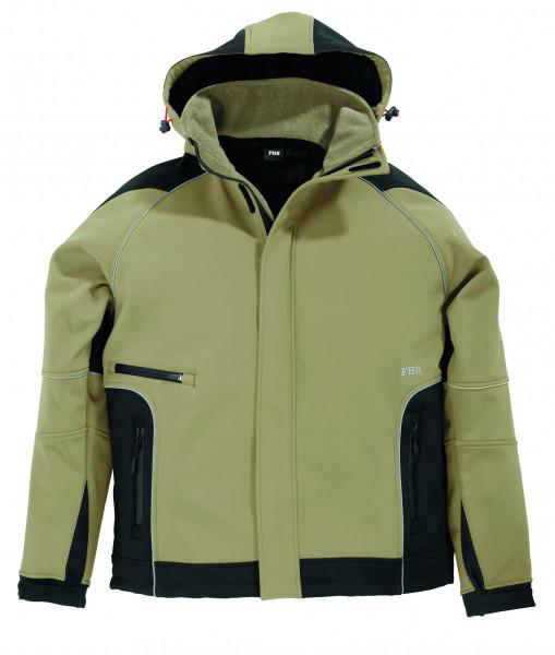 WALTER Softshell-Jacke, beige-schwarz