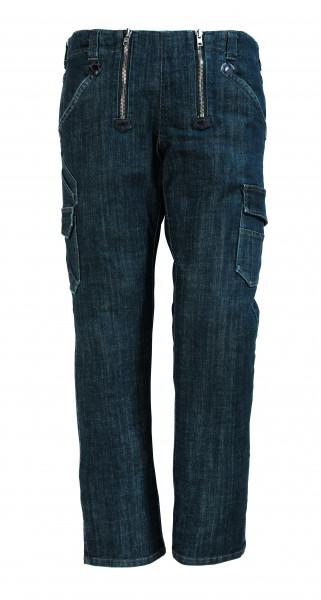 FRIEDHELM Stretch-Jeans-Zunfthose, schwarzblau