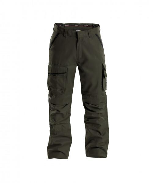 CONNOR Canvas Bundhose mit Kniepolstertaschen, olivgrün/schwarz