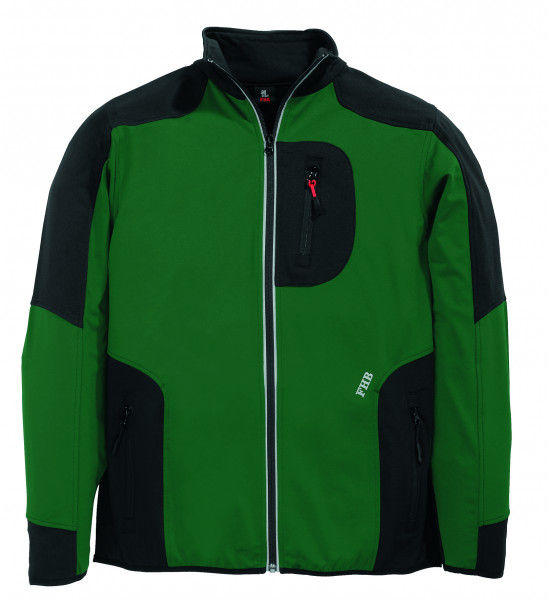 RALF Jersey-Fleece-Jacke FHB Fastdry, grün-schwarz
