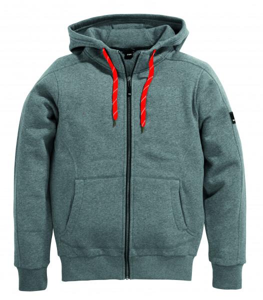 BENNO Sweater-Jacke mit Kapuze, grau