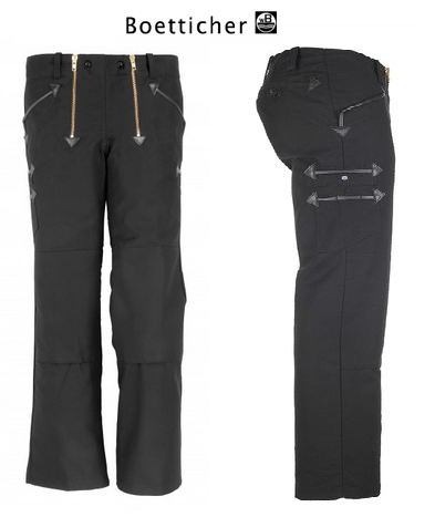 Pass auf, GILDE-Hose Rips-Moleskin ohne Schlag, schwarz