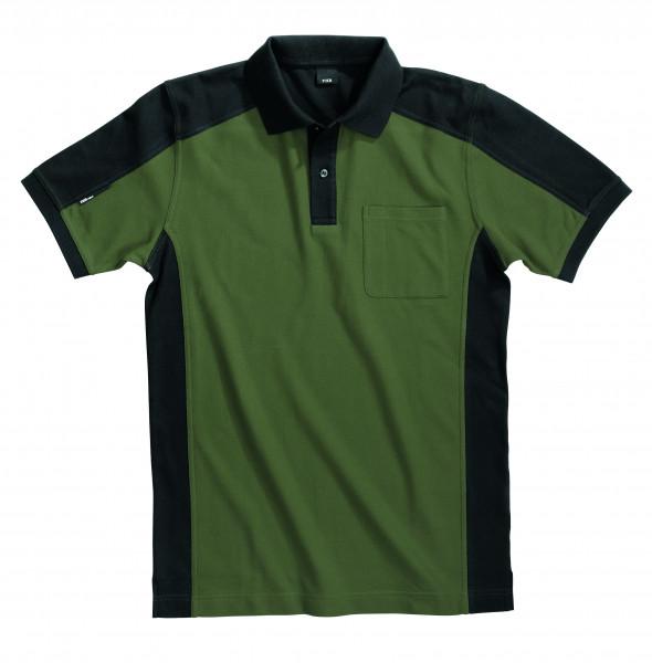 KONRAD Polo-Shirt, oliv-schwarz